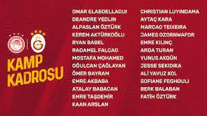 "Galatasaray SK on Twitter: ""Olympiakos maçı kamp kadromuz 👇… """