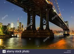 Dumbo Light Festival 2017 Manhattan Bridge By Night Taken From Brooklyn Dumbo New