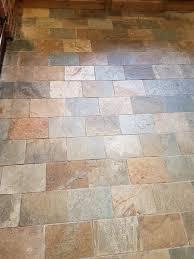 Kitchen floor tiles Terracotta Welsh Slate Kitchen Floor Tiles Before Cleaning Ticknall Derby Tile Cleaners Tile Cleaning Refreshing Dull Slate Kitchen Floor Tiles In Ticknall Tile