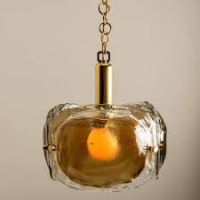 brass and brown glass blown murano