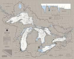 Lake Michigan Nautical Chart Great Lakes Nautical Chart Map Puzzle