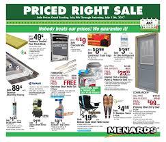 Menards Ad July 9  15, 2017