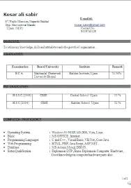 Another Word For Work Experience Bca Resume Format Copy Of Resume Sample Template Example Of