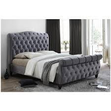Black Velvet King Size Bed Frame