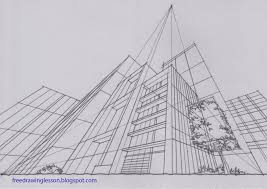 perspective drawings of buildings. Plain Buildings Draw Buildings In Three Point Perspective With Perspective Drawings Of Buildings W