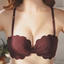 <b>Women's New Sexy</b> Bra Gathered No Steel Ring <b>Push up</b> Bra ...