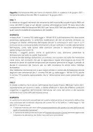 Oggetto: Dichiarazione IMU per l'anno di imposta 2020, in scadenza il 30  giugno 2021 – Versamento della prima rata IMU in sc
