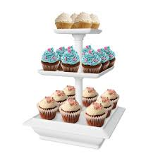 Cookie Display Stand Chef Buddy 100Tier Collapsible Dessert Stand White Walmart 74