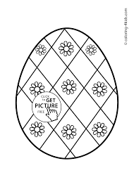 Easter Egg Coloring Pages For Kids Prinables Easter Ornaments 15