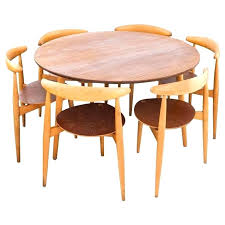 danish modern dining room table and chairs round table with chairs danish modern set a round