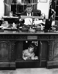 desk in oval office. Pres. John F. Kennedy Playing W. His Son Jr Desk In Oval Office