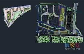 Dwg Download Urban Park Dwg Project Cad Library Urban Park
