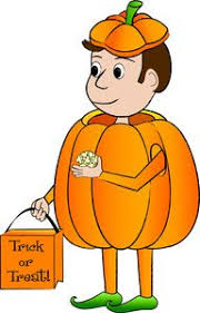 halloween costume clip art. Fine Clip Halloween Costume Clipart Image A Cartoon Kid In A Pumpkin Costume Holding  Trick Or Throughout Clip Art