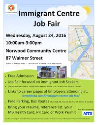 immigrant centre job fair immigrant centre manitoba inc job fair 2016 poster no tips