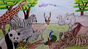 zoo drawing. Unique Zoo Learn How To Draw A Scenery Of Zoo Step By In Drawing O