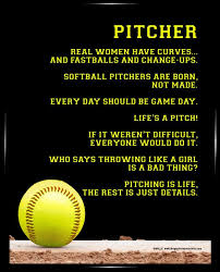 pics of softball sayings softball pitcher 8x10 sport poster print inspirational softball