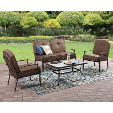 mainstays wentworth 4 piece patio conversation set seats 4 com