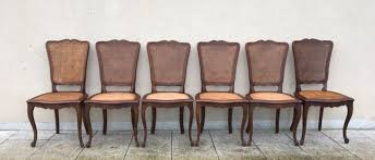 french cane chair. French Set Of Six Bergère Cane Dining Chairs Louis XV Style Chair