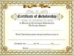 scholarship award certificate templates scholarship award certificate templates best business template