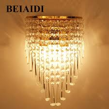 E14 Wall Lights Us 27 97 25 Off Beiaidi Modern Simple Crystal Led Wall Lamps With E14 Base Bedroom Bedside Wall Light Living Room Dining Room Stair Wall Lights In