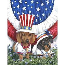Dachshund Home Decor Shop Precious Pet Paintings 15 Ft X 104 Ft Dachshund 4th Of July