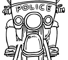 Police Officer Coloring Pages Printable Jeep Vehicles For Police