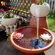 Solar Light Up Water Feature Us 17 22 23 Off Lumiparty Mini Solar Powered Fountain Pump Water Floating Solar Water Pumps For Garden Pool Outdoor Decoration In Solar Lamps From