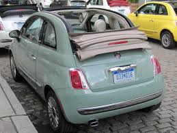 Light Green Fiat 500 For Sale 2012 Fiat 500c Cabrio First Drive