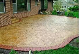 patio stained concrete patio marvelous staining textured stamped and cost calculator