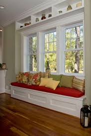 Window seat...love the built in shelve above