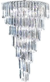 9 light chandelier sigma chrome 9 light spiral chandelier with clear acrylic prisms vela 9 light
