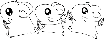 Small Picture Three Walking Hamsters Coloring Page Free Animal pages of