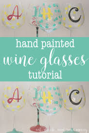 hand painted wine glasses tutorial easy steps to paint your own diy hand painted wine