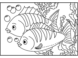 Fish Coloring Pages Couple Coloringstar