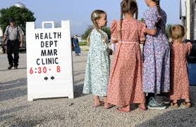amish language sample amish country dutchman news mennonite  at a clinic in a cornfield doctors cure children at a clinic in a cornfield doctors