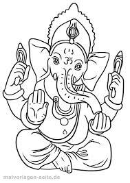 Kleurplaat Godsdienst Hindoeïsme Gratis Kleurpaginas Om Te