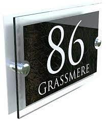 house sign plaque door number