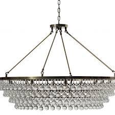 celeste extra large glass drop crystal chandelier antique brass 12 lights