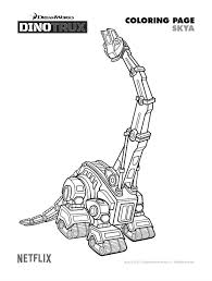 Free Dinotrux Skya Coloring Page Printable Coloring Pages Crafts