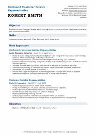 Outbound Customer Service Representative Resume Samples | Qwikresume
