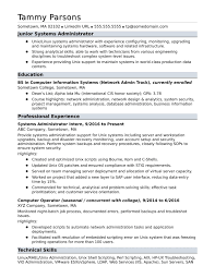 Entry Level Network Administrator Resume Examples Test Engineer