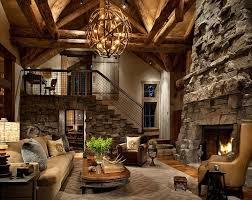 Log Cabin Living Room Concept Interesting Design