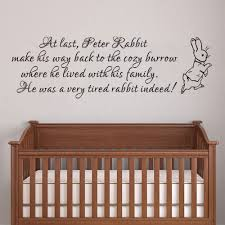 peter rabbit wall decal baby nursery wall sticker vinyl lettering bedroom wall art quote 35 6cm x 116 8cm in wall stickers from home garden on  on wall art sayings for nursery with peter rabbit wall decal baby nursery wall sticker vinyl lettering