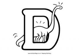 Small Picture Letter D Colouring Pages