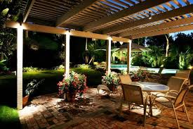 image of amazing outdoor backyard lighting ideas