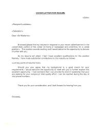 Resume With Cover Letter Sample Of Resume Letter Resume Cover Letter