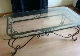 wrought iron coffee table oval hand wrought iron coffee table with distressed antique gold leaf finish