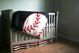 crib baseball nursery bedding