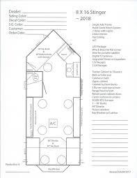 2018 8 x 16 stinger floor plan
