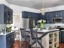 Functional Custom Navy Blue Kitchen Cabinets (Image 11 of 26)